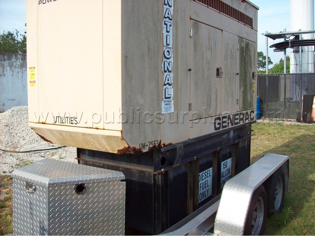 Used 60KW generators available at online auction