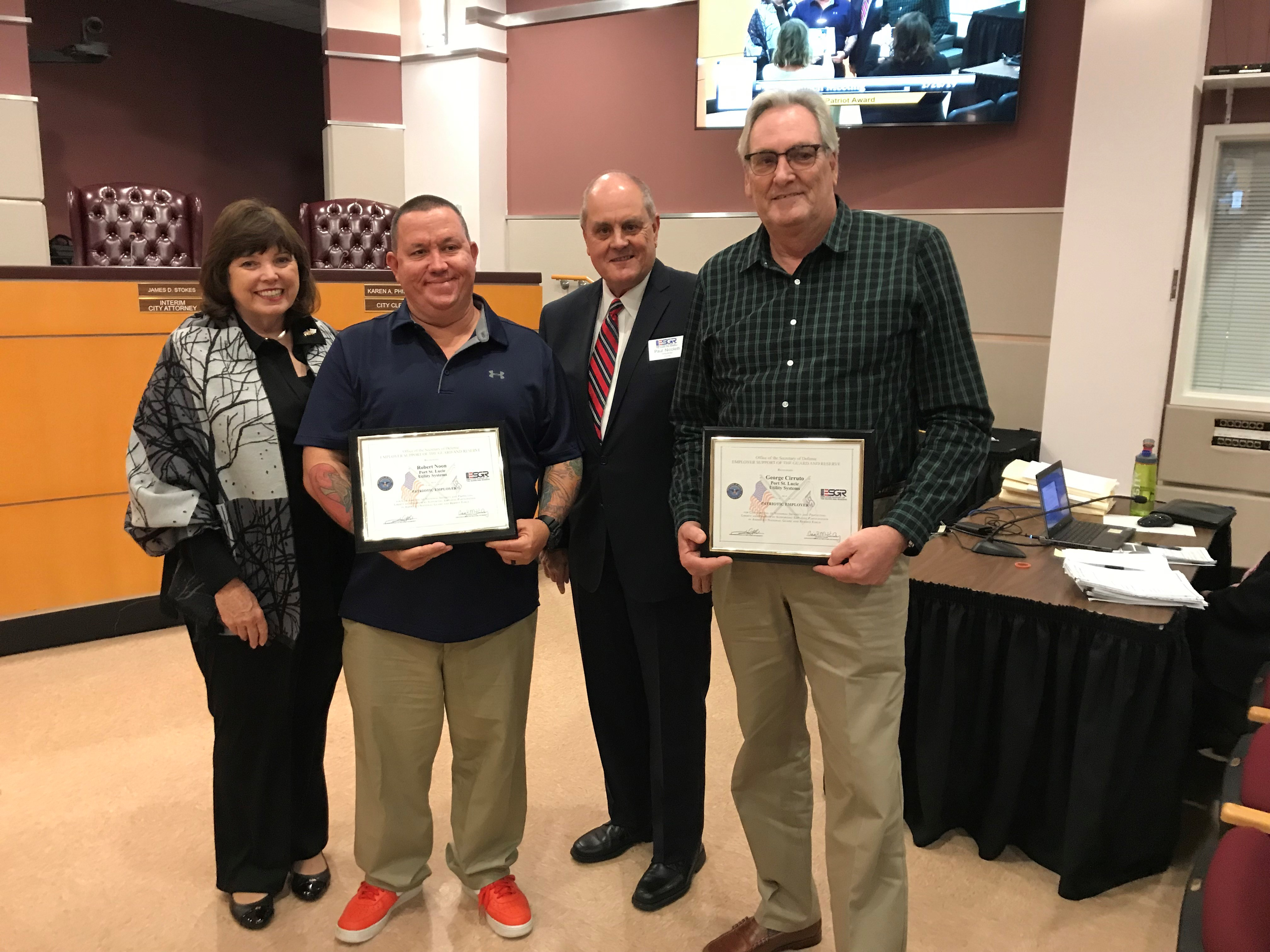 Utility Systems employees honored by Department of Defense